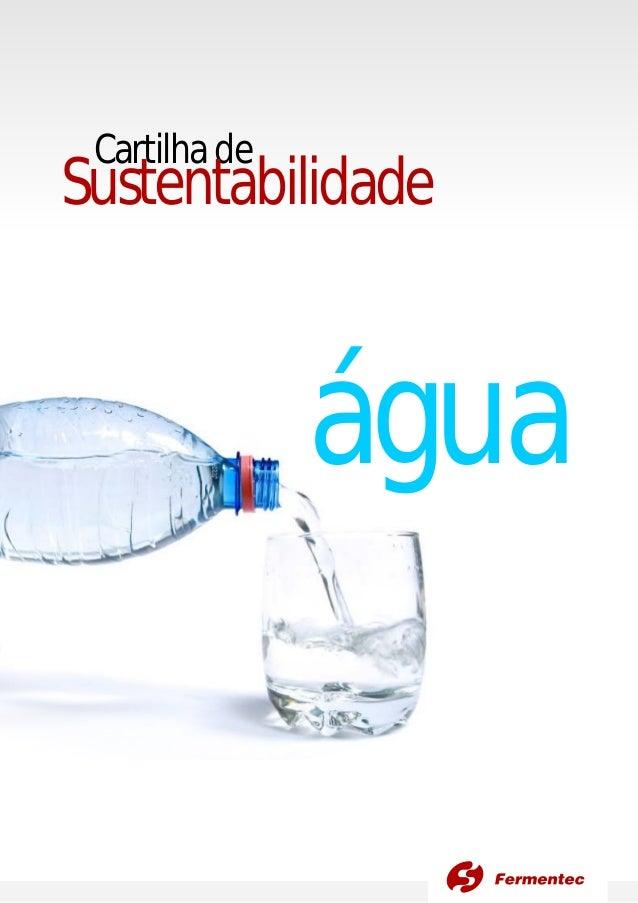 Cartilhade Sustentabilidade água