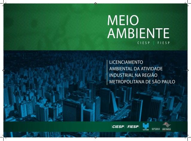 LICENCIAMENTO AMBIENTAL DA ATIVIDADE INDUSTRIAL NA REGIÃO METROPOLITANA DE SÃO PAULO