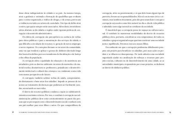 o combate à corrupção nas prefeituras do brasil20 o combate à corrupção nas prefeituras do brasil 21 A organização não gov...
