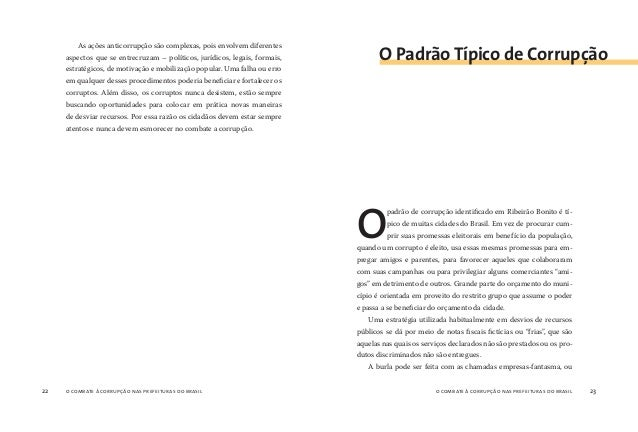 o combate à corrupção nas prefeituras do brasil24 o combate à corrupção nas prefeituras do brasil 25 seja, que inexistem f...