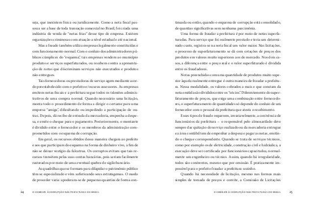 o combate à corrupção nas prefeituras do brasil26 o combate à corrupção nas prefeituras do brasil 27 da prefeitura é obrig...