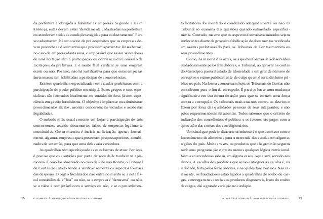 o combate à corrupção nas prefeituras do brasil28 o combate à corrupção nas prefeituras do brasil 29 A pesar de não determ...