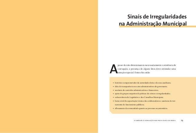o combate à corrupção nas prefeituras do brasil30 o combate à corrupção nas prefeituras do brasil 31 Algumas atitudes toma...