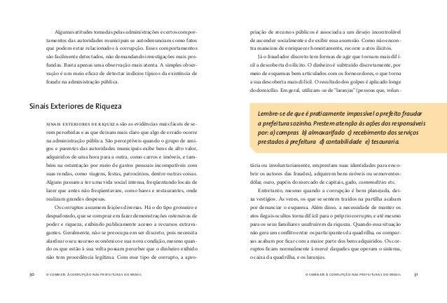 o combate à corrupção nas prefeituras do brasil32 o combate à corrupção nas prefeituras do brasil 33 Independente dos tipo...