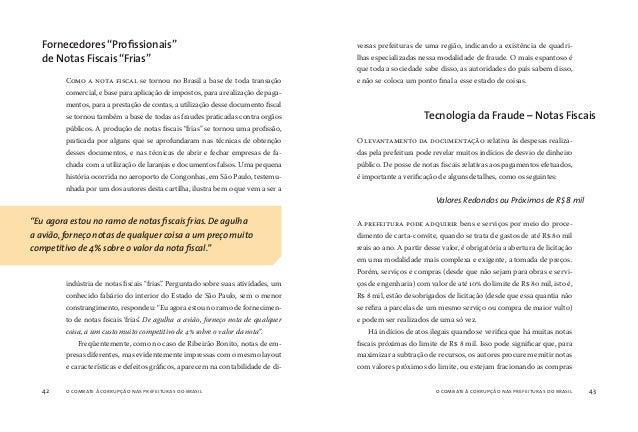 o combate à corrupção nas prefeituras do brasil44 o combate à corrupção nas prefeituras do brasil 45 para tentar burlar o ...