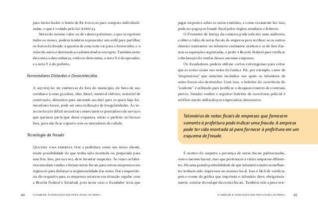 o combate à corrupção nas prefeituras do brasil46 o combate à corrupção nas prefeituras do brasil 47 ficar se a gráfica que ...