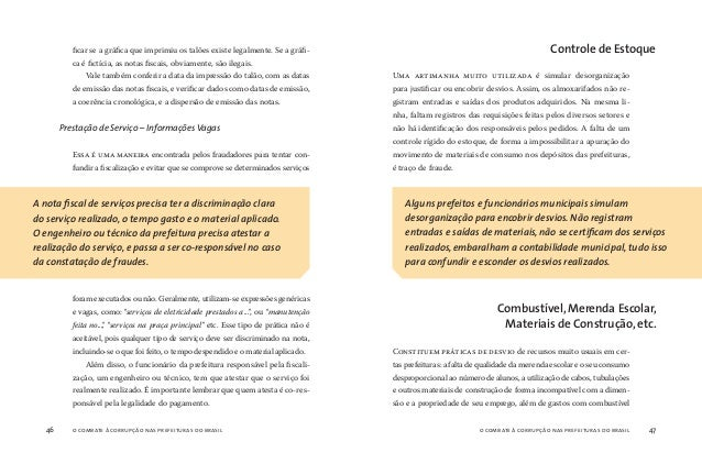 o combate à corrupção nas prefeituras do brasil48 o combate à corrupção nas prefeituras do brasil 49 em quantidade muito s...
