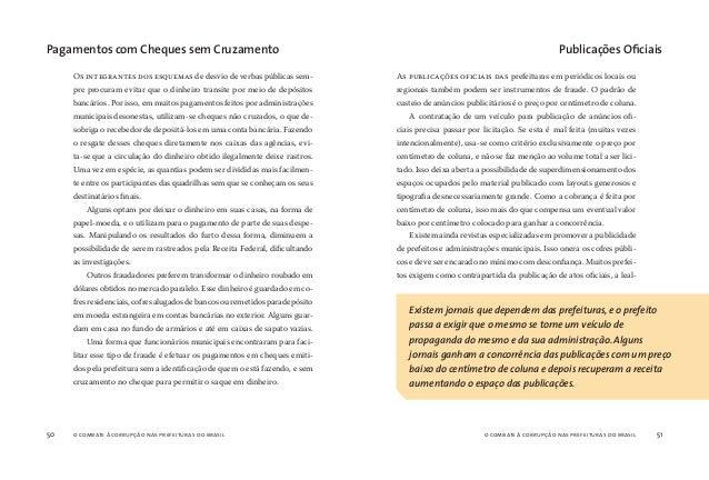 o combate à corrupção nas prefeituras do brasil52 o combate à corrupção nas prefeituras do brasil 53 dade absoluta dos mei...