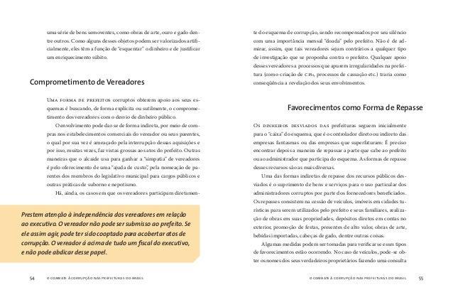 o combate à corrupção nas prefeituras do brasil56 o combate à corrupção nas prefeituras do brasil 57 aos órgãos de trânsit...