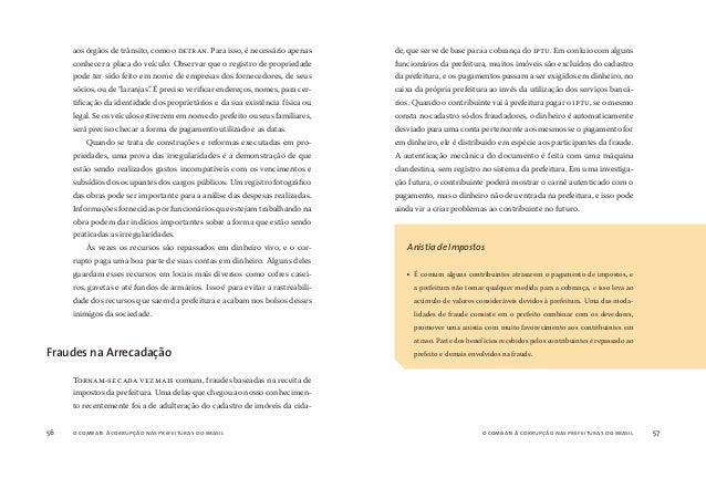 o combate à corrupção nas prefeituras do brasil58 o combate à corrupção nas prefeituras do brasil 59 E xistem várias manei...