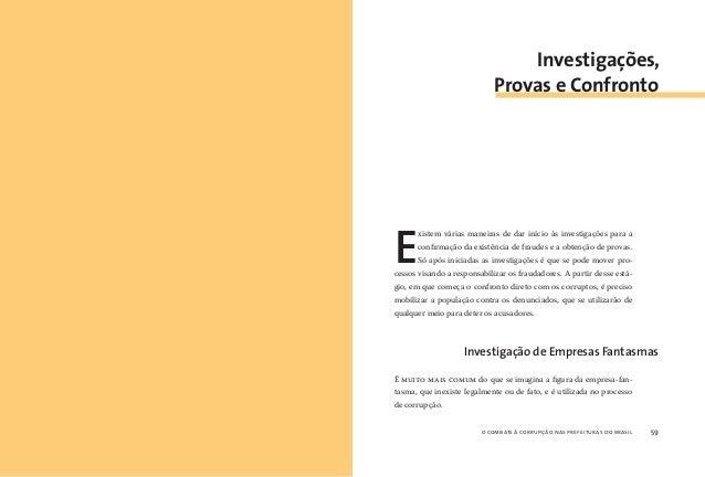 o combate à corrupção nas prefeituras do brasil60 o combate à corrupção nas prefeituras do brasil 61 O pagamento a uma emp...