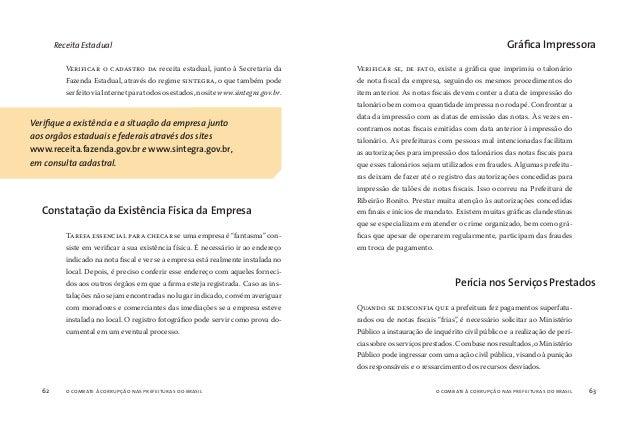 o combate à corrupção nas prefeituras do brasil64 o combate à corrupção nas prefeituras do brasil 65 A perícia também pode...