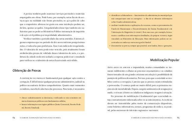 o combate à corrupção nas prefeituras do brasil66 o combate à corrupção nas prefeituras do brasil 67 Deverão ser mobilizad...