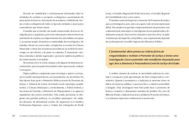 o combate à corrupção nas prefeituras do brasil68 o combate à corrupção nas prefeituras do brasil 69 MESMO CONFRONTADOS CO...