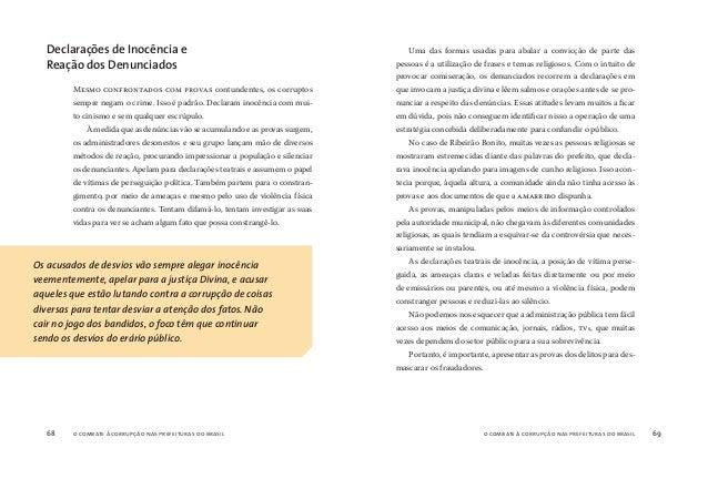 o combate à corrupção nas prefeituras do brasil70 o combate à corrupção nas prefeituras do brasil 71 A cidade de Ribeirão ...