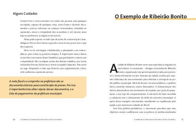 o combate à corrupção nas prefeituras do brasil72 o combate à corrupção nas prefeituras do brasil 73 de desvio de recursos...