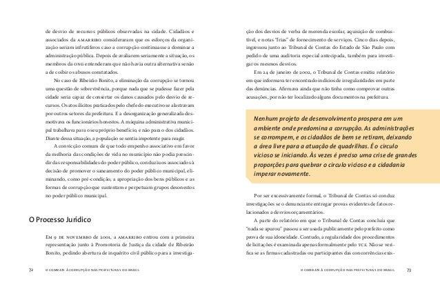 o combate à corrupção nas prefeituras do brasil74 o combate à corrupção nas prefeituras do brasil 75 tem física ou juridic...