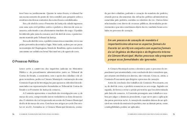 o combate à corrupção nas prefeituras do brasil76 o combate à corrupção nas prefeituras do brasil 77 A justiça brasileira ...