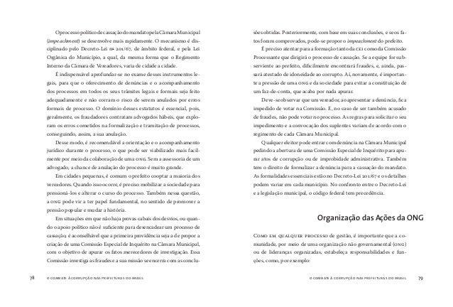 o combate à corrupção nas prefeituras do brasil80 o combate à corrupção nas prefeituras do brasil 81 A participação em um ...