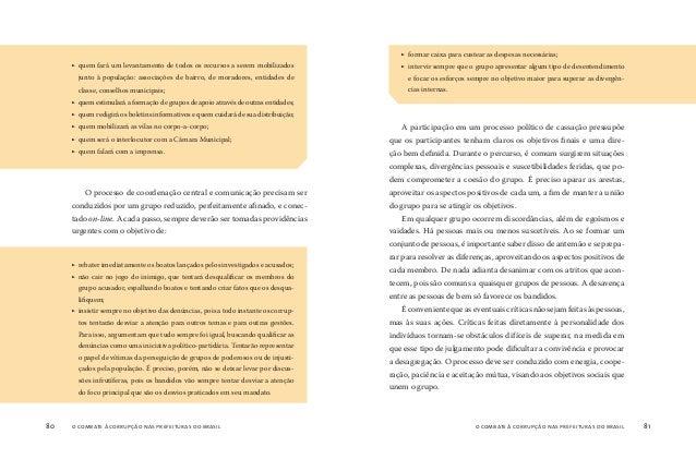 o combate à corrupção nas prefeituras do brasil82 o combate à corrupção nas prefeituras do brasil 83 U m grande conjunto d...
