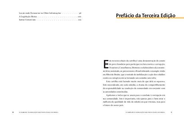 12 o combate à corrupção nas prefeituras do brasil 13 A primeira edição da cartilha provocou inesperado impacto na socieda...