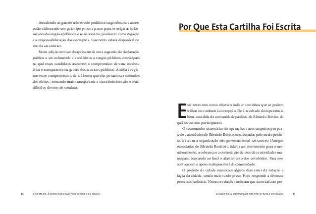 o combate à corrupção nas prefeituras do brasil16 o combate à corrupção nas prefeituras do brasil 17 feito estava uma gran...