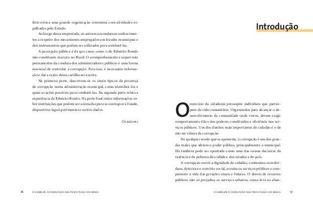 o combate à corrupção nas prefeituras do brasil18 o combate à corrupção nas prefeituras do brasil 19 dono obras indispensá...