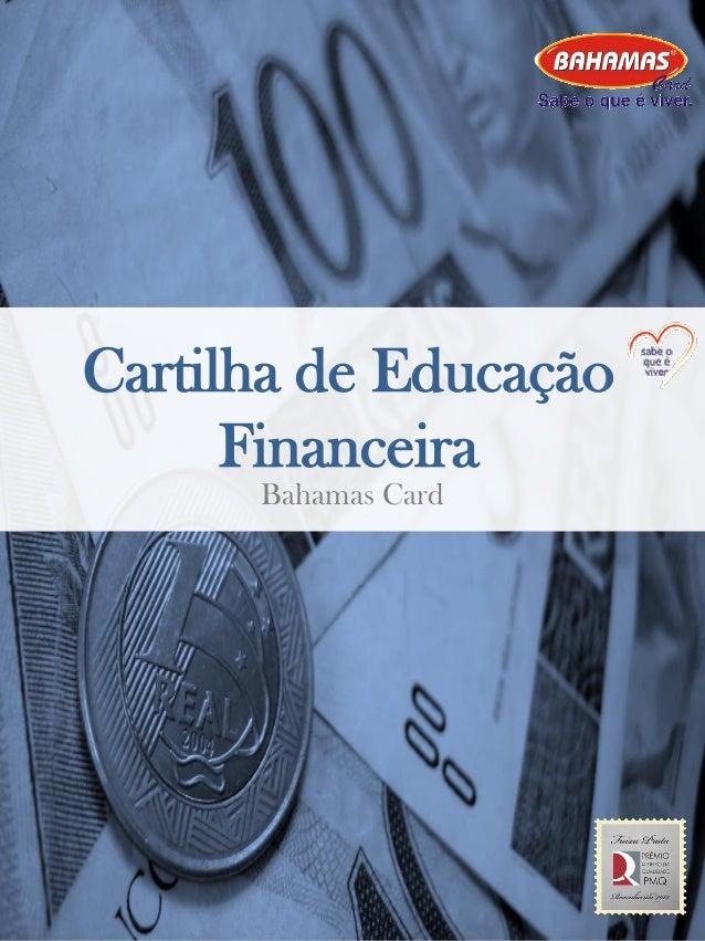 Cartilha de Educação Financeira Bahamas Card 1