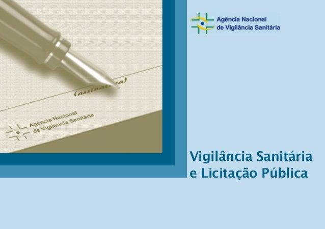 Vigilância Sanitária e Licitação Pública