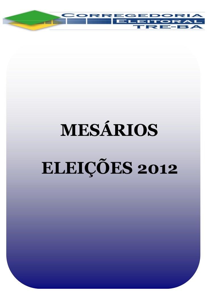MESÁRIOSELEIÇÕES 2012