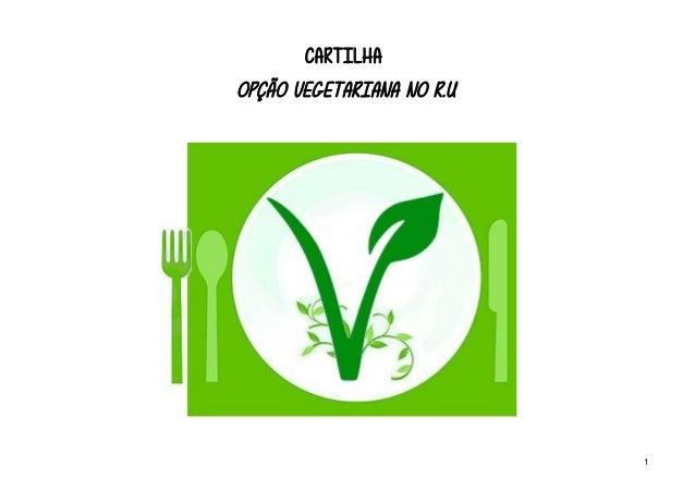 CARTILHA OPÇÃO VEGETARIANA NO R.U 1