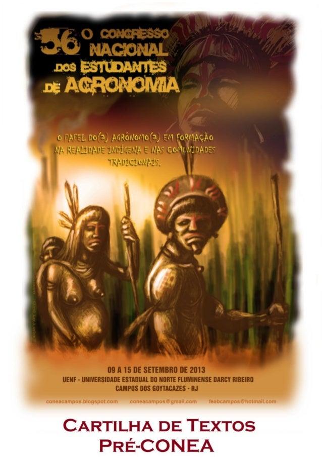Federação dos Estudantes de Agronomia do Brasil Cartilha de Textos Pré-CONEA 56º Congresso Nacional dos Estudantes de Agro...