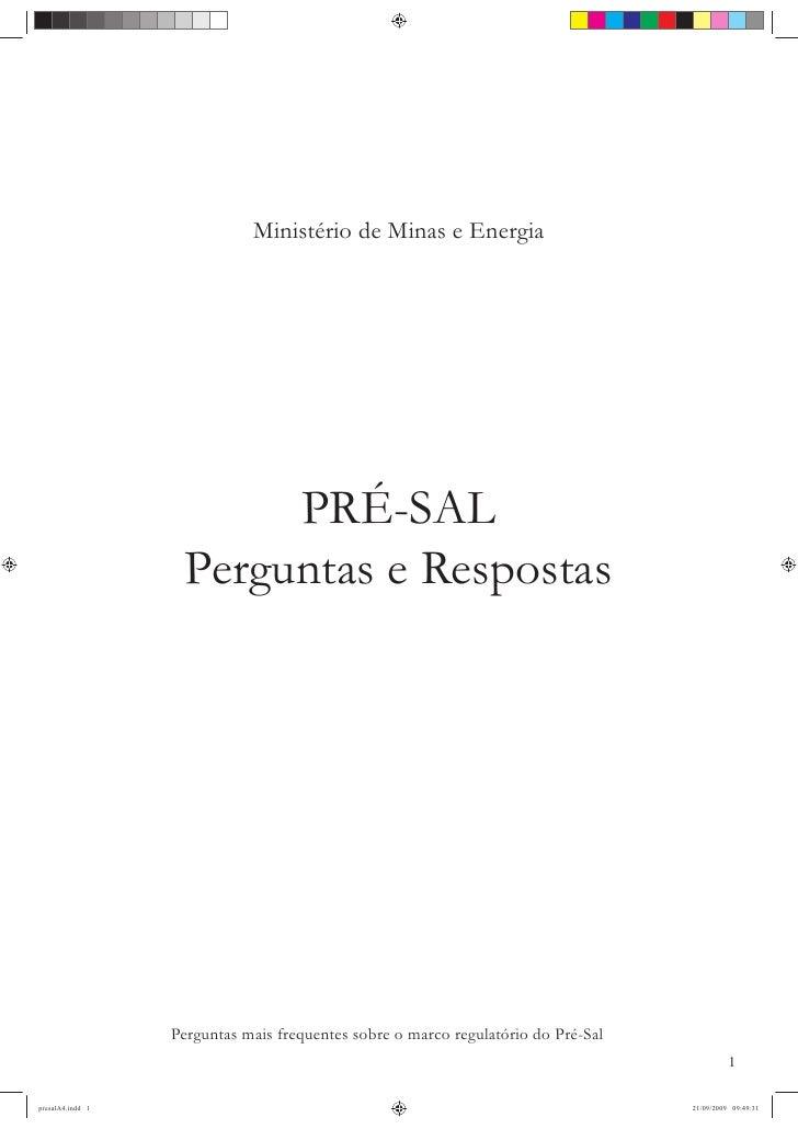 Minist rio de minas de energia cartilha pr sal for Ministerio de minas