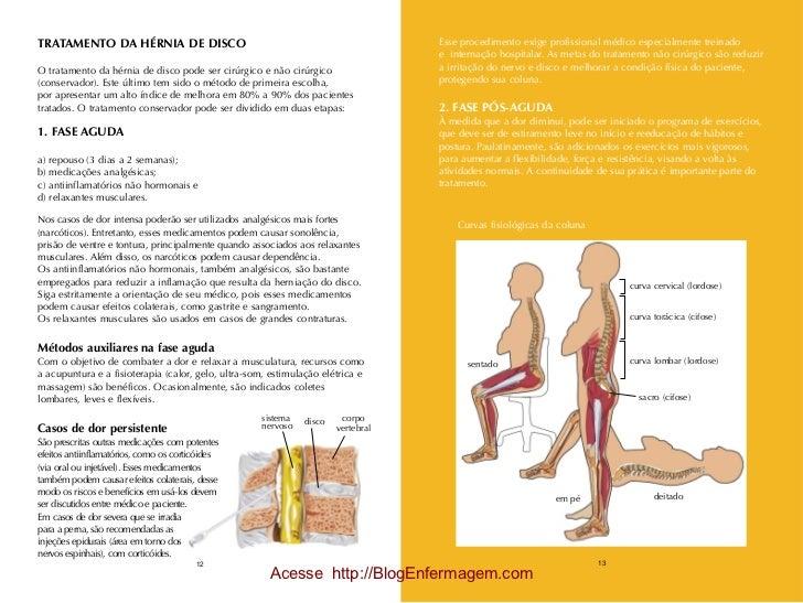 TRATAMENTO DA HÉRNIA DE DISCO                                                     Esse procedimento exige profissional méd...