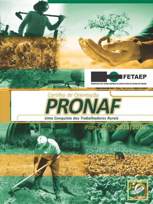 Cartilha de Orientação do PRONAF 2013/2014
