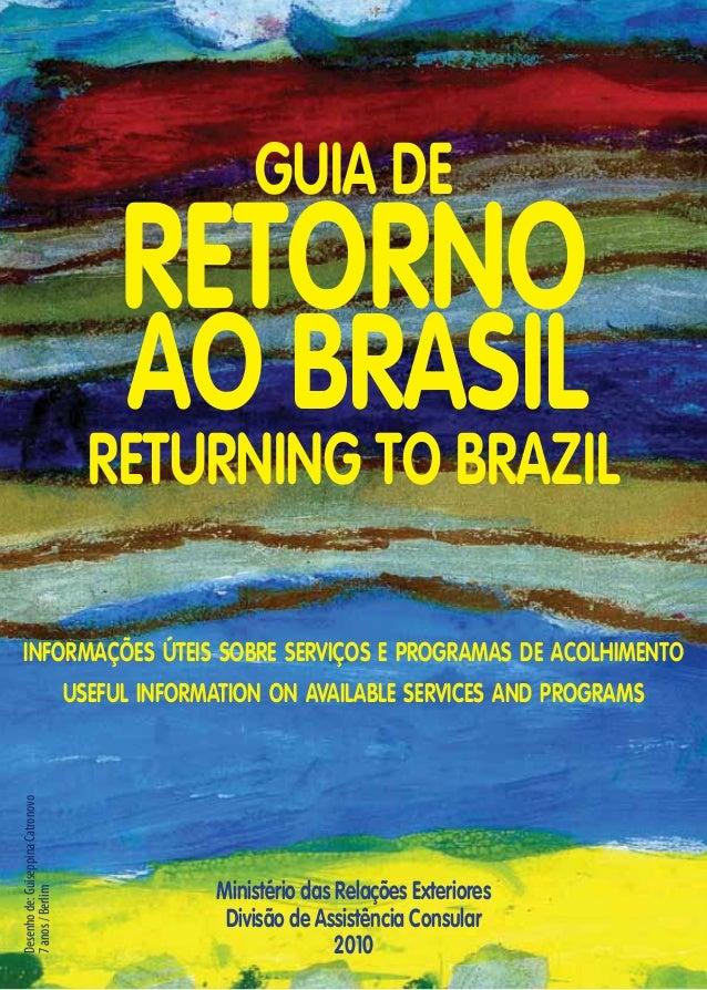 GUIA DE                                    RETORNO                                    AO BRASIL                           ...
