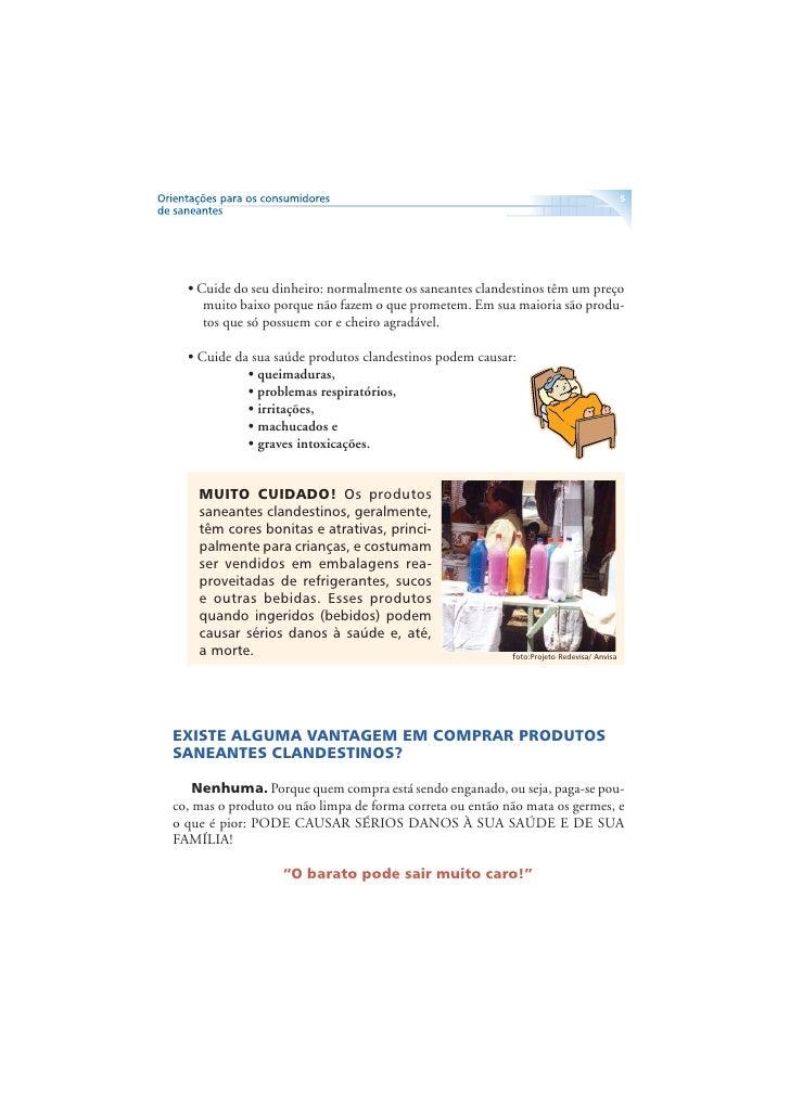 6     DICAS ÚTEIS PARA AUXILIAR A IDENTIFICAR PRODUTOS SANEANTES CLANDESTINOS (PIRATAS). No momento da compra leia com bas...