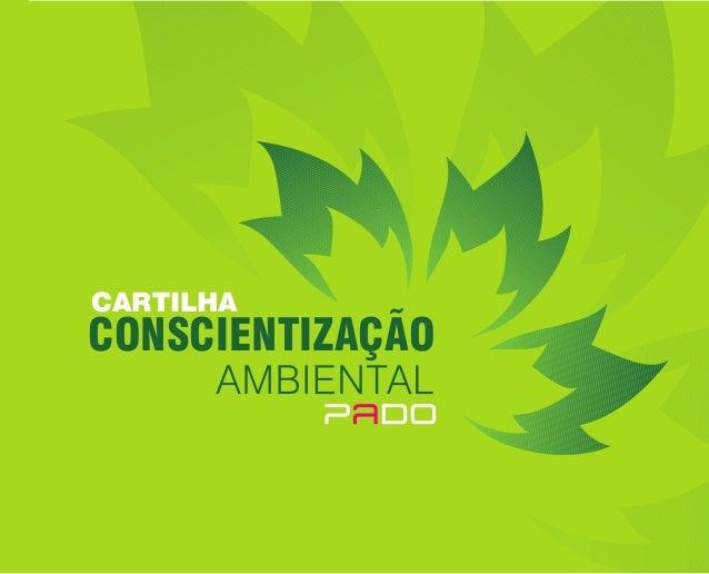CONSCIENTIZAÇÃO CARTILHA