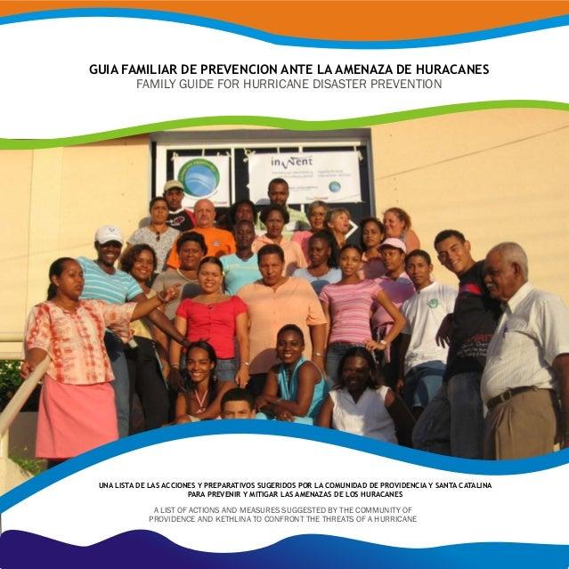 GUIA FAMILIAR DE PREVENCION ANTE LA AMENAZA DE HURACAN