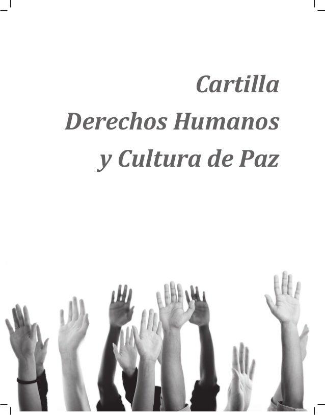 Cartilla Derechos Humanos y Cultura de Paz