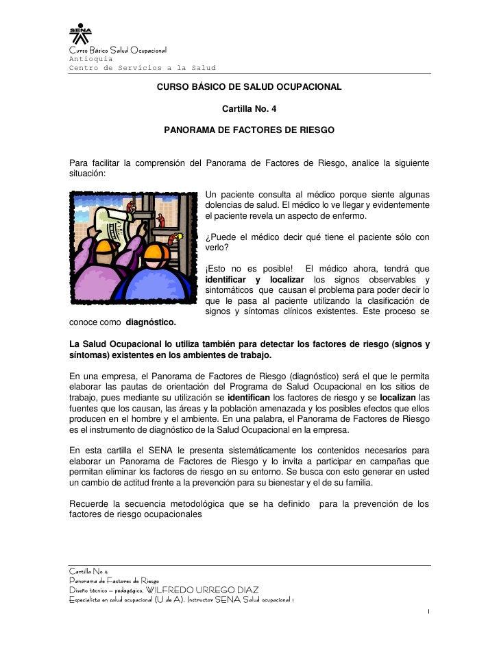 Curso Básico Salud OcupacionalAntioquiaCentro de Servicios a la Salud                              CURSO BÁSICO DE SALUD O...