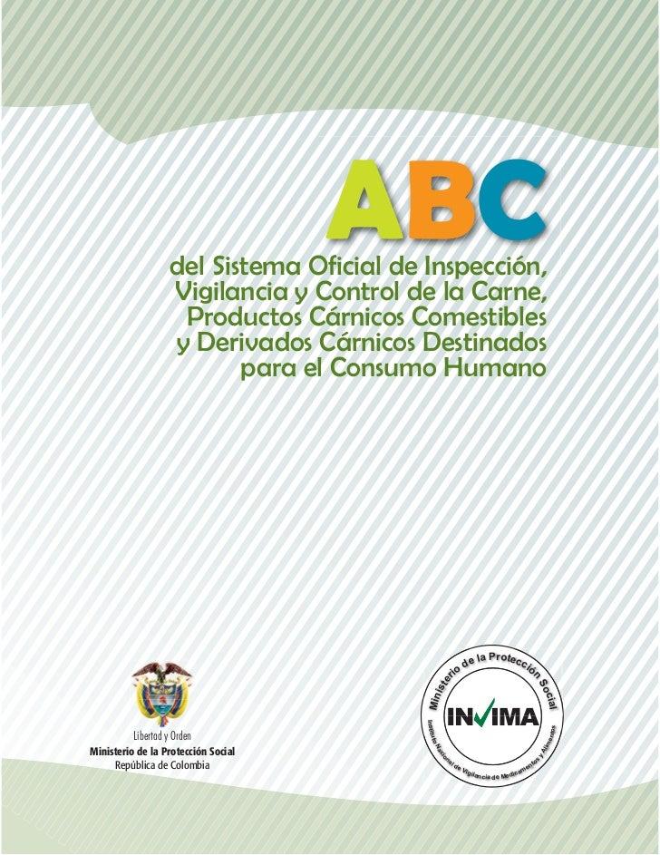 ABC                    del Sistema Oficial de Inspección,                    Vigilancia y Control de la Carne,            ...