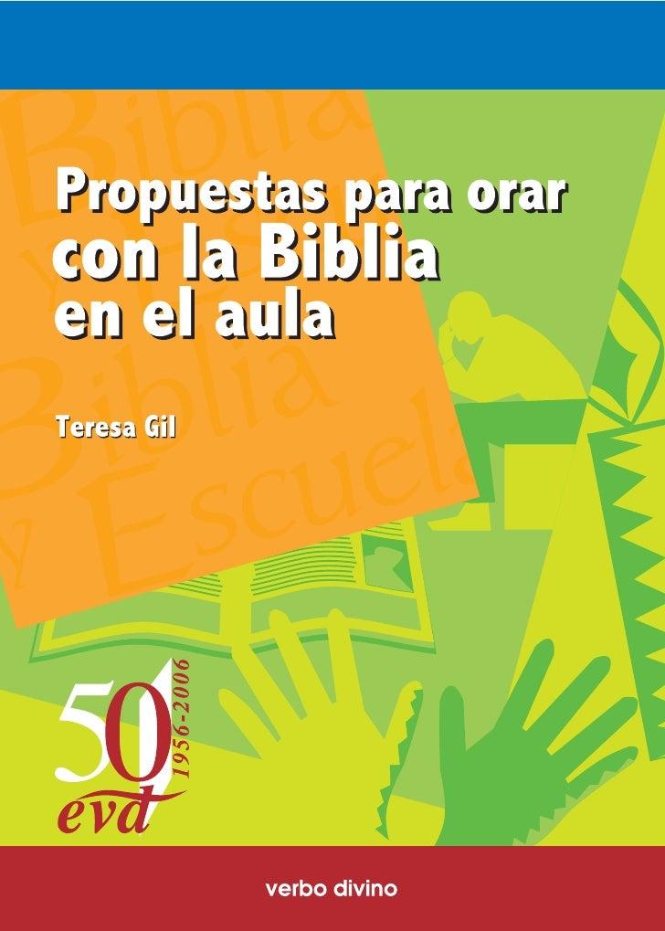ORAR CON LA BIBLIA EN EL AULA