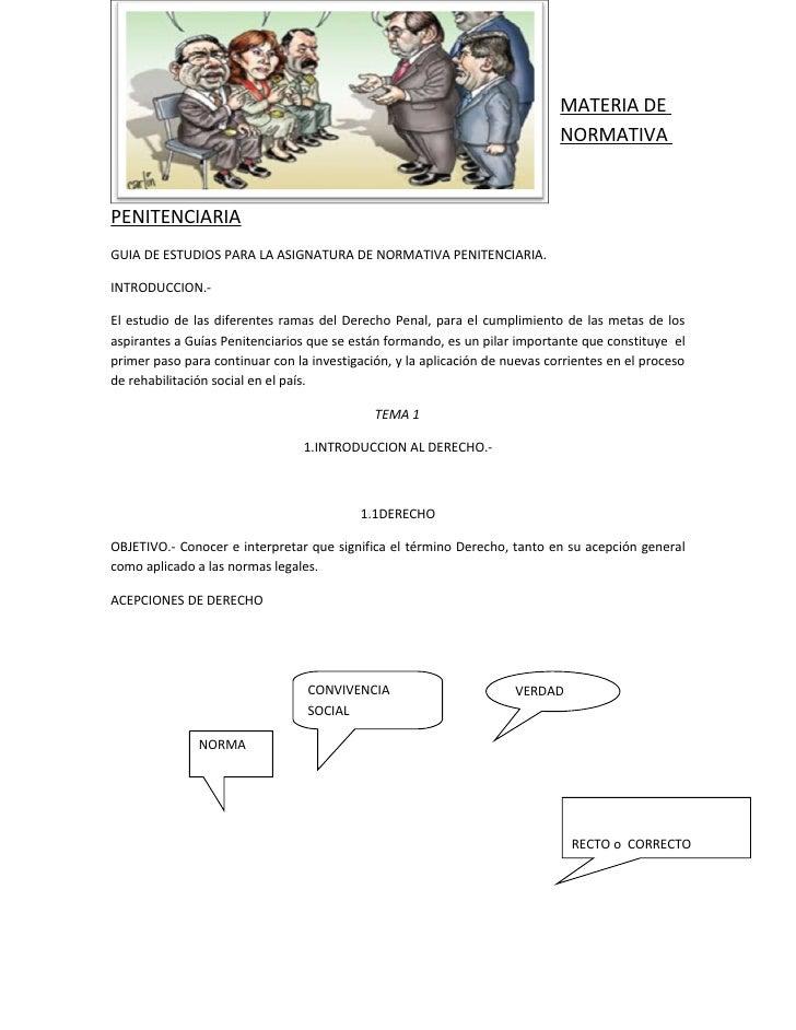 MATERIA DE                                                                             NORMATIVAPENITENCIARIAGUIA DE ESTUD...