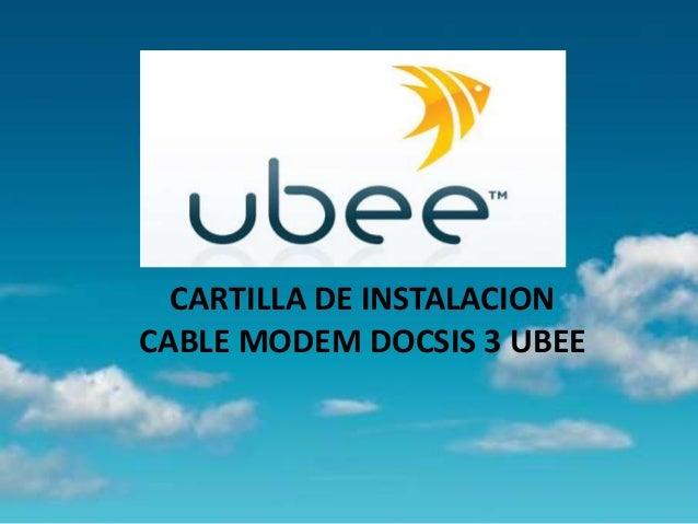 Cartilla instalacion ubee docsis 3