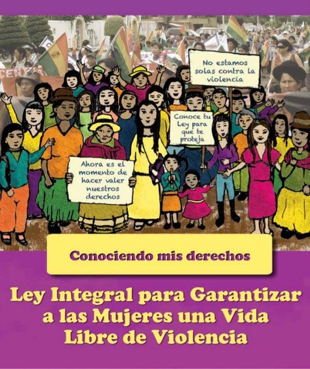 ContenidoPresentación3La violencia contra la mujer es... 4~~ ¿Por qué nos preocupa?  4Ley integral para garantizar a la...