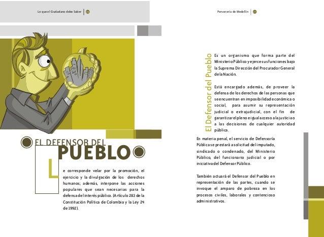 EL DEFENSOR DEL PUEBLO L Es un organismo que forma parte del MinisterioPúblicoyejercesusfuncionesbajo laSupremaDirecciónde...