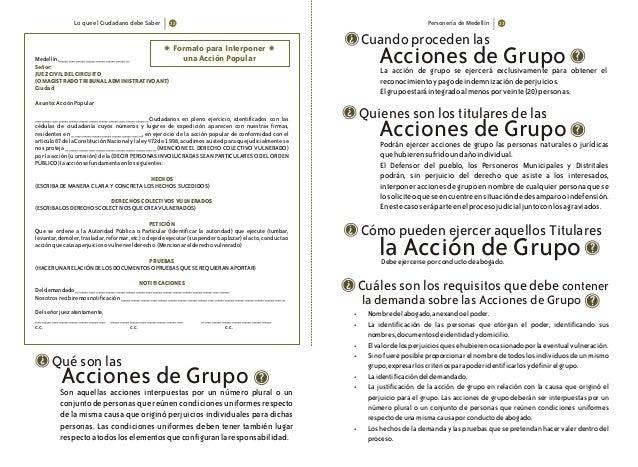 Lo que el Ciudadano debe Saber Personería de Medellín Formato para Interponer una Acción PopularMedellín,_________________...