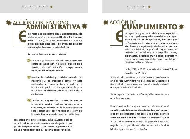 Lo que el Ciudadano debe Saber Personería de Medellín ACCIÓN CONTENCIOSO ADMINISTRATIVA selmecanismomedianteelcualunaperso...