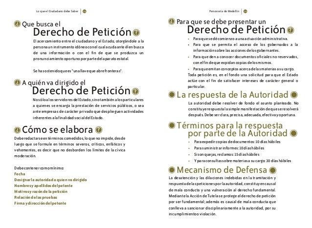 Lo que el Ciudadano debe Saber Personería de Medellín Que busca el Derecho de Petición ? ? El acercamiento entre el ciudad...